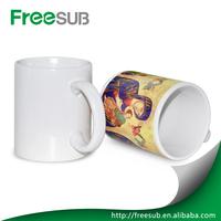 White blank sublimation mug wholesale ceramic coffee mugs for sublimation magic cups factory