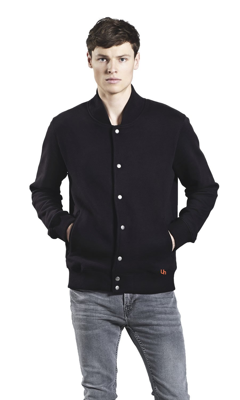 Underhood of London Varsity Jacket for Men | 100% Premium Organic Cotton Lightweight Unisex Jacket