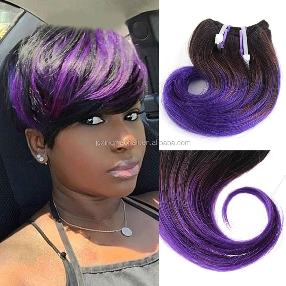 Wholesale 6inch 100 Human Virgin Ombre Body Weave Hair 1bblue