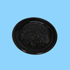 Home Cheese Round Ceramic Black Garlic Grater Plate
