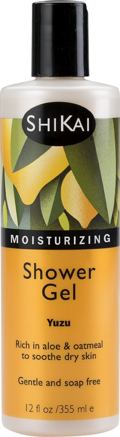 Shikai - Daily Moisturizing Shower Gel, Rich in Aloe Vera & Oatmeal That Leaves Skin Noticeably Softer & Healthier, Relief For Dry Skin, Gentle Soap-Free Formula (Yuzu, 12 Ounces, Pack of 3)
