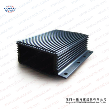 Aluminium Enclosure Heatsink with black anodizing and CNC machining