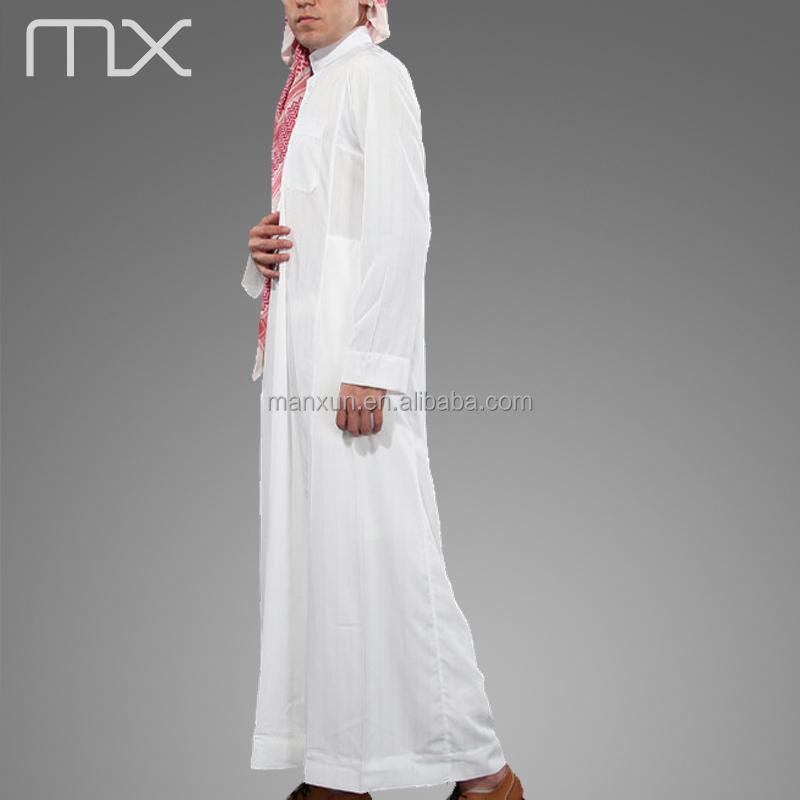2015 High Neck Jubba White Arabia Muslim Thobe India Mens Robe ...
