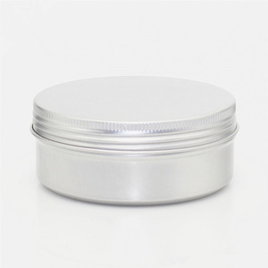 Wholesale 4 oz Aluminum Screw Top Round Steel Cans Aluminum Tin Cans with Screw Lid Screw Lid Containers
