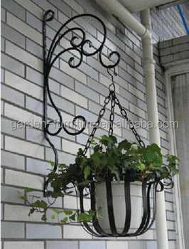 Wrought Iron Plant Stand, Wall Hanging Garden Decor Flower Pot Shelves  Wholesale