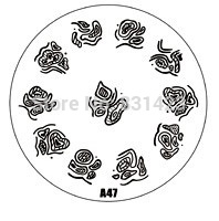 2015 new A Series A47 Nail Art Polish DIY Stamping Plates Image Templates Nail Stamp Stencil