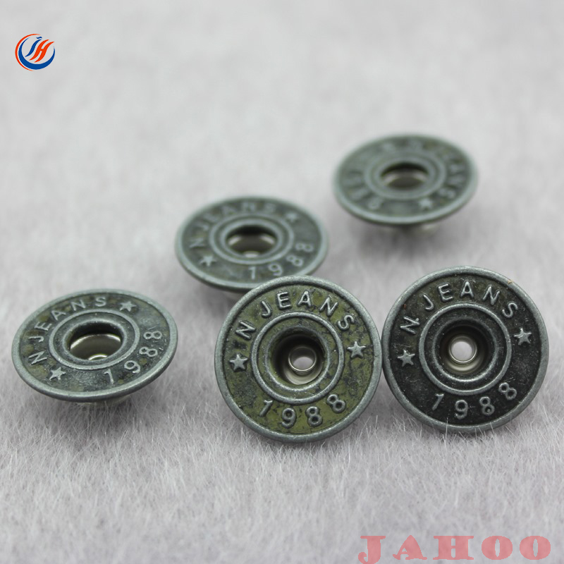 Factory Supply Fashion Painted Metal Jean Buttons