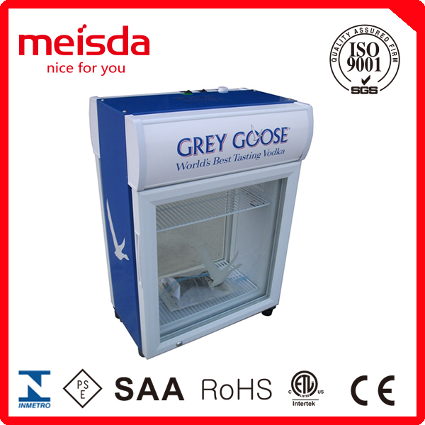 35L Double Door Display Cooler , Double Door Milk Fridge