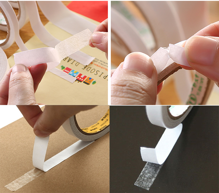 Solvent Acrylic Adhesive and 140 micron thickness double sided tissue tape