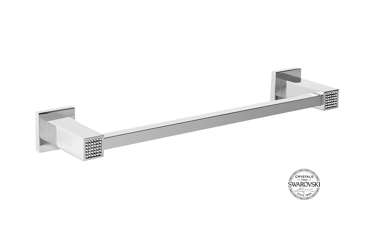 Skip Diamond Wall 24 Inch Bathroom Towel Bar Rail Holder, Wall Mount Bathroom  Accessories