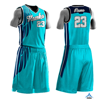 5efe64197751 Custom Basketball Uniform Design Color Blue For Youth Boys