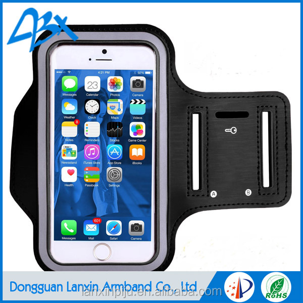 For apple iphone 6 neoprene sport arm bag, mobile phone Sport Armband Case with Key Holder