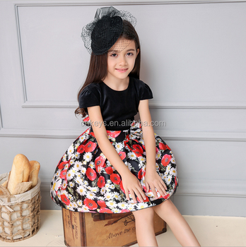 efdd005737d E0010A Wholesale Children wear summer flower girl dress printed sleeveless  girls cotton floral dress Korean girl ...