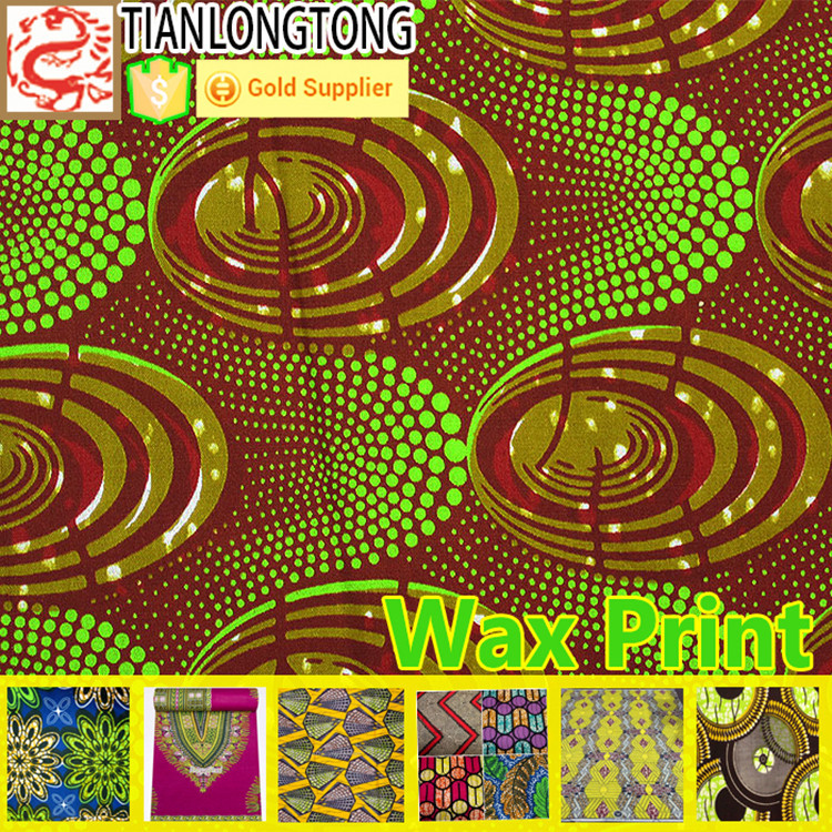 Hot sale 100% cotton english wax print fabric made in China