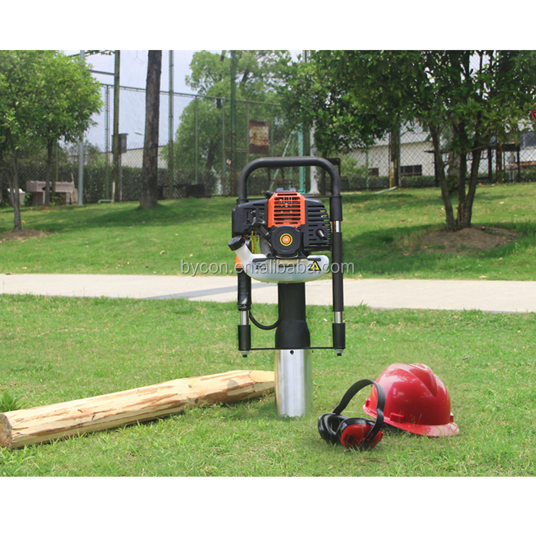 CE 100mm driving pipe / fence / rod solar ground mini portable pile driver hammer piling machine
