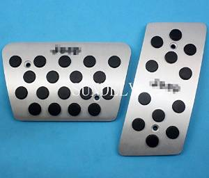 SUNDELY® AT Aluminum Brake Gas Foot Pedal Plate for Jeep Wrangler 2007-2015 (for Automatic Transmission Models)