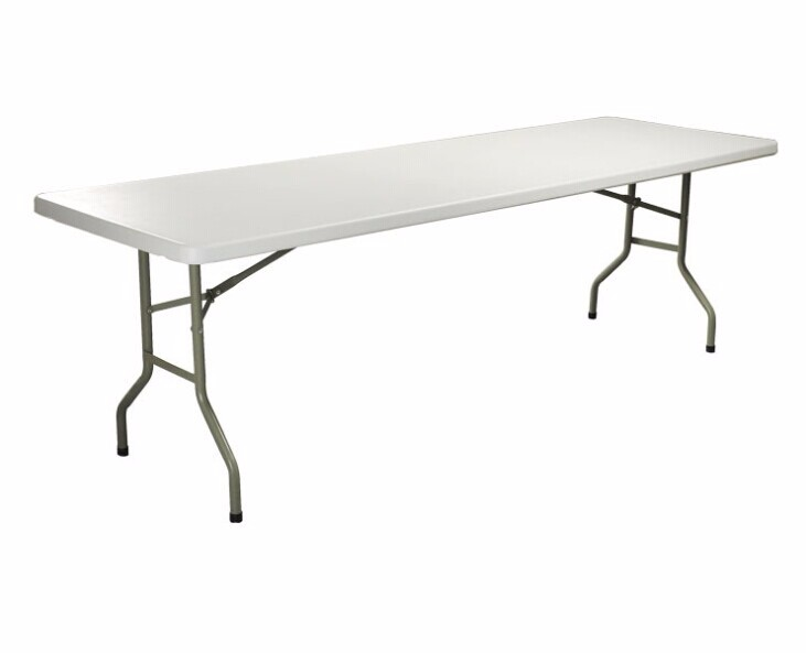 8ft Exhibition Plastic Fold In Half Rectangular Table