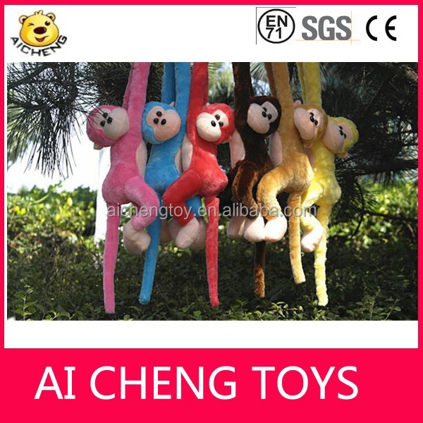 High quality stuffed animal plush monkey toys with long legs and arms