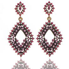 Venta al por mayor tienda en línea barata amazon hot tendencia étnica joyería de Lujo rojo