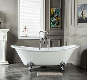 Porcelain Bathtub Freestanding Clawfoot Cast Iron Bath Tub Low Price Skirted