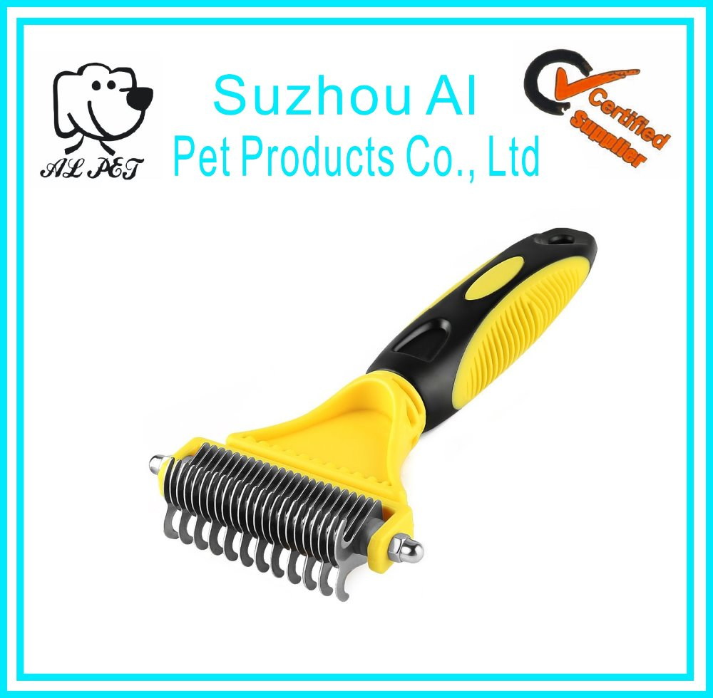 High Quality Amazon Ebay Retail Logo Printed Color Customized Pet Dog Grooming Dematting Comb Rakes