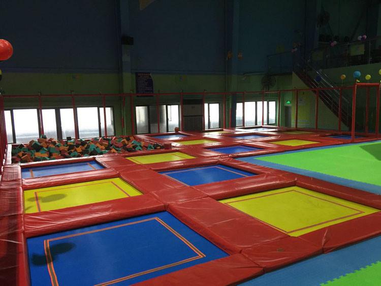 Ce Verified Large Size Kids Sky Zone Indoor Trampoline