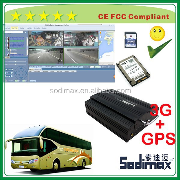4ch sd hdd mobile dvr with free mdvr player