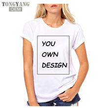 Tongyang High Quality Customized Women tshirt Print Your Own Design / LOGO / QR code/photo Casual t shirts