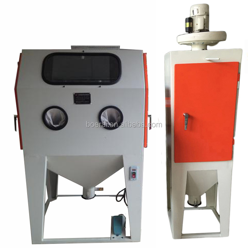Sandblasting the piece to get rid of rust / sand blast cabinets / Surgical Equipments Cleaning Machine