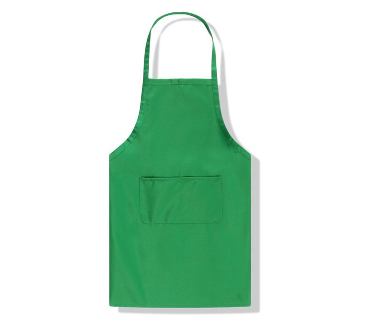 Custom polyester cotton kitchen apron with two pockets