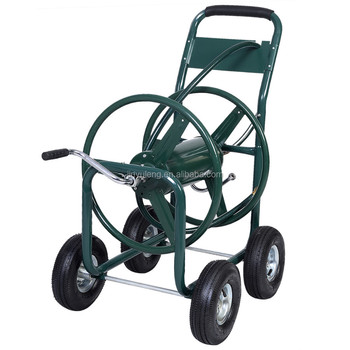 300m matel outdoor heavy industrial duty steel large water hose reel cart gardenyard planting hose easy