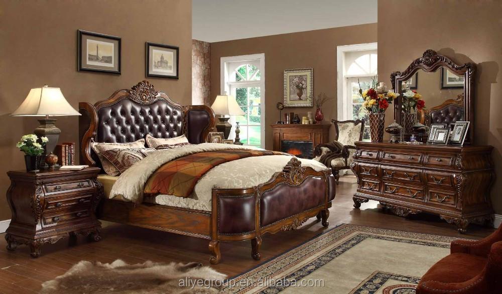 Amerikanische luxus schlafzimmer  Mm02-amerikanische Schlafzimmer Möbel Bett Und Massivem Eichenholz ...