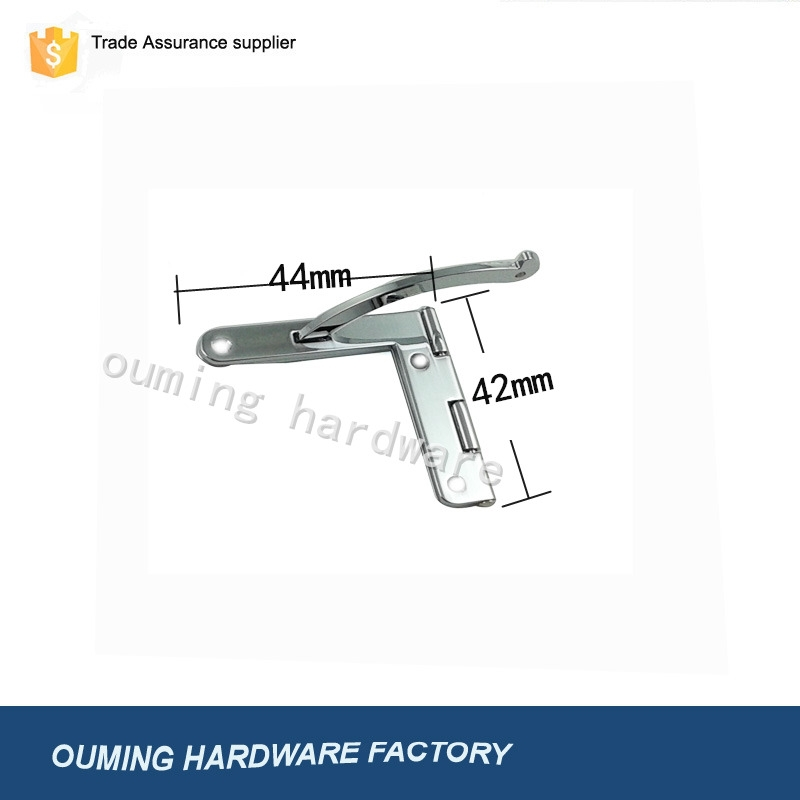 Chrome plated zinc alloy hinge in T shape for box