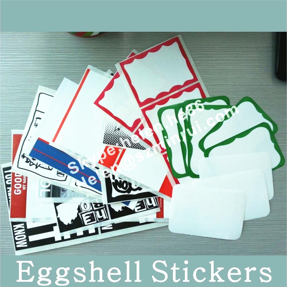 Minrui Manufacturer Supply Self Destructive Vinyl Eggshell