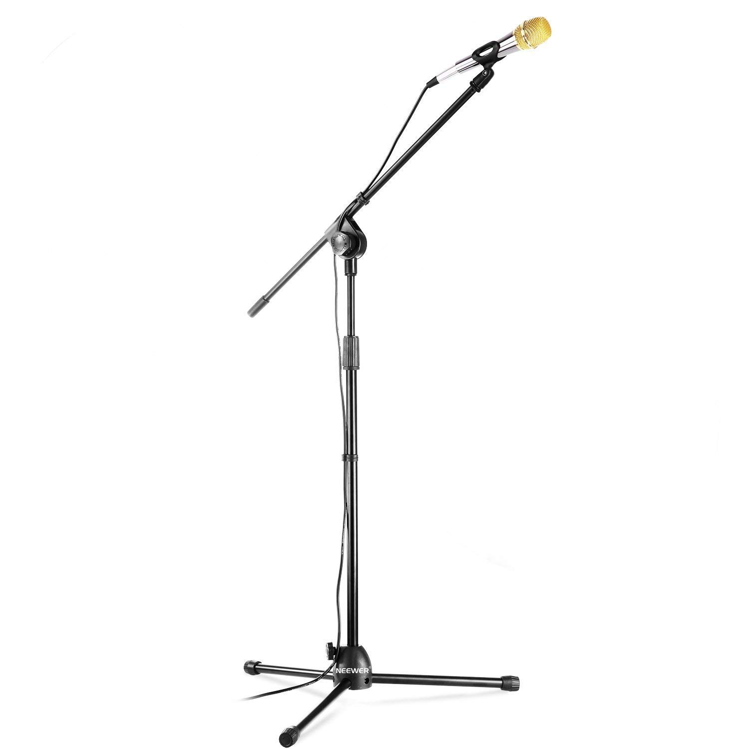 Neewer Professional Microphone Kit: Condenser Microphone with Foam Windscreen + Height Adjustable Tripod Floor Stand with a Removable Boom + 3.5mm Male to XLR Female Microphone Cable