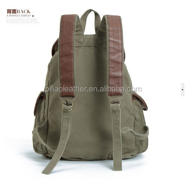 Vintage canvas sports bag laptop backpack for travel backpack