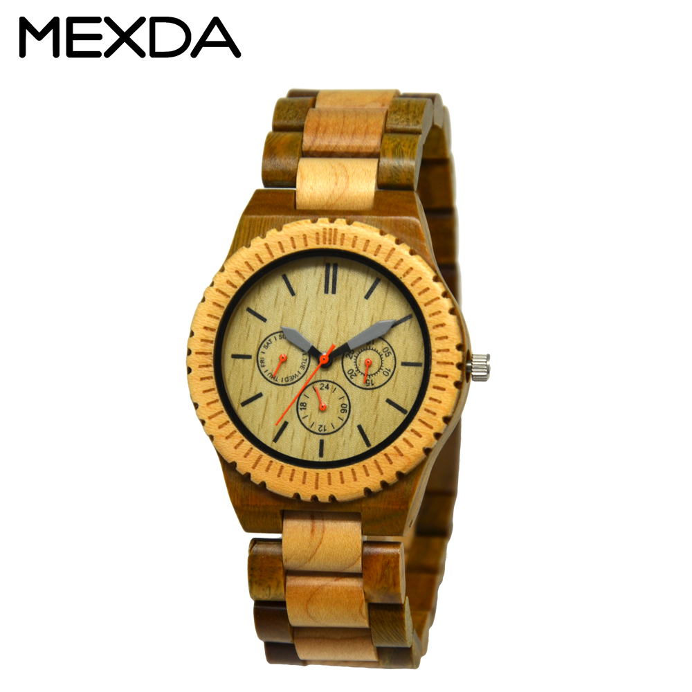 wood drop logo product dials geemo men s watch watches custom detail shipping