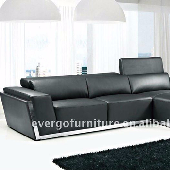 Skin Leather Living Room L Shaped Corner Sofas,High Density Foam ...