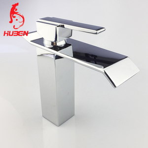 low height square temperature copper hotel and basin faucet