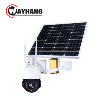 Solar power cctv WIFI IP Camera 4G SIM Card 12V P2P 24 Hours Recording