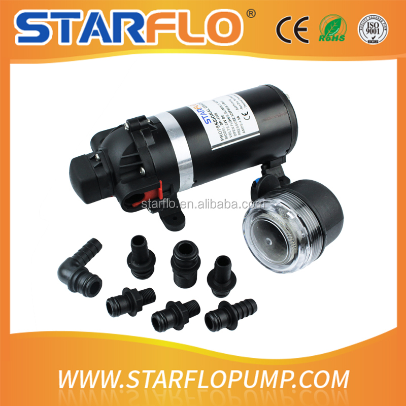 STARFLO 120psi 24v dc micro 3 chamber diaphragm eletric high pressure water pump