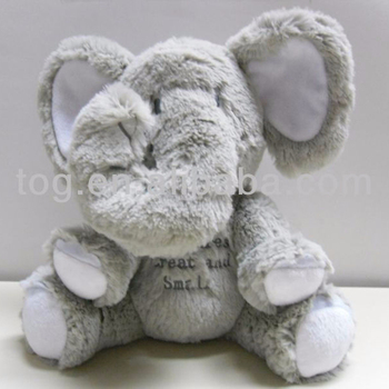 Tog Plush Elephant Animal Doll Stuffed Musical Elephant Toys Kids
