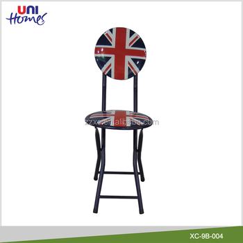 Cheap Metal Folding Union Jack Chair