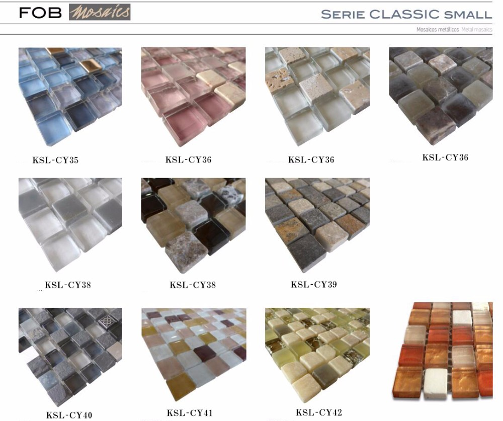 Interior wall glass mosaic border tile and