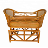 Wholesale Home Furniture Baby Rocking Crib Wicker Baby Crib Rattan Baby Cradle
