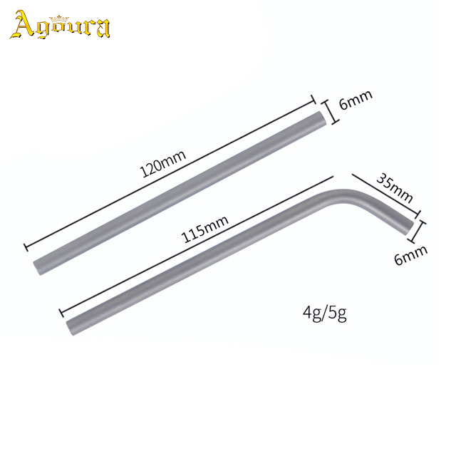 Outdoor Camping Titanium Drinking Straw, Pure Titanium Metal Travel Portable Healthy Tea Thick Straw Stir Stick