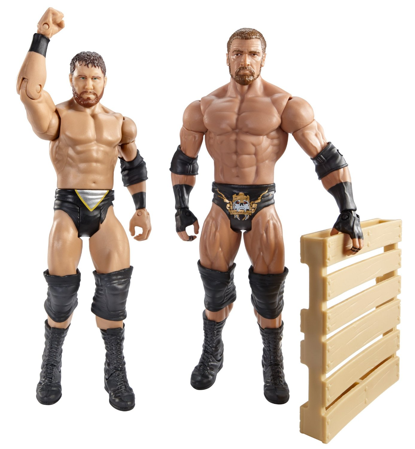 WWE Battle Pack Triple H vs. Curt Axel with Pallet Action Figure, 2-Pack