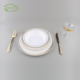 Good price appetizer deep irregular shaped airline one time plate round hard fruit wedding serving plastic disposable dishes