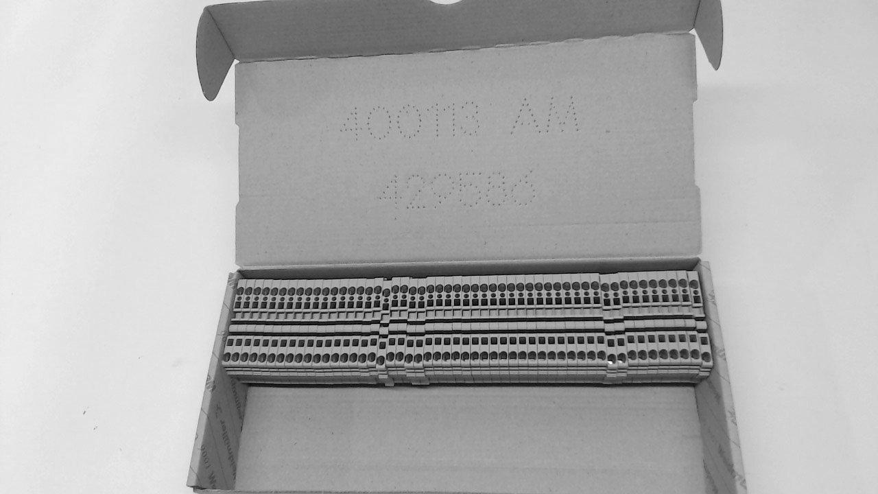WEIDMULLER 1608510000 TERMINAL BLOCK, DIN RAIL, 2POS, 30-12AWG (1 piece)