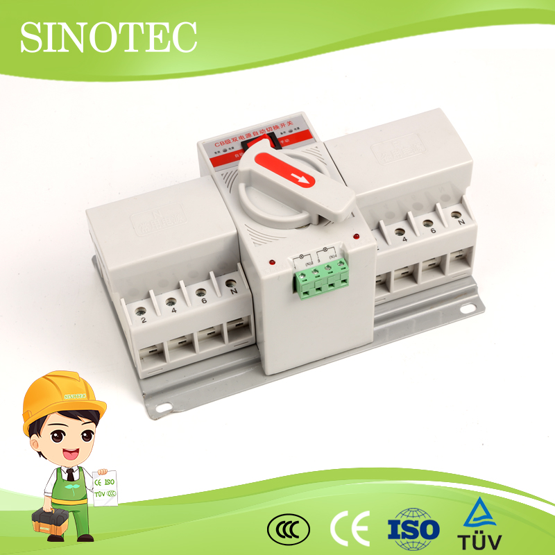 Economic ac 15a 16a automatic transfer switch 63a 110v 220v durable triphase 240v